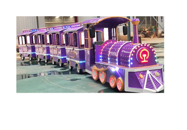 Colorful Electric Trackless Train Kids Party Train ISO9001 3.4 * 1.2 * 2.1 M